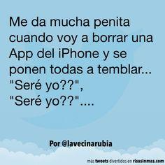 Borrando apps del iPhone.