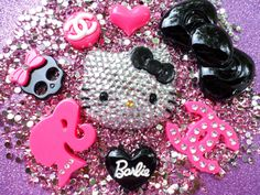hello kitty deco kit DIY resin flatback cabochon by decoblingem, $15.99