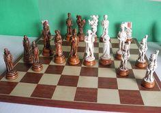 Battle of Waterloo Chess Set Maple/Ivory