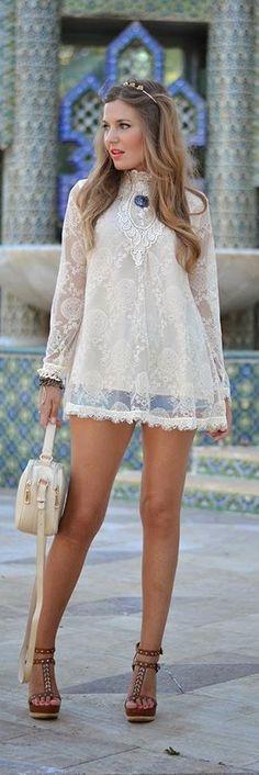 "Lace Crochet Blouse -   Helena  ♥♡♥♡♥Thanks, Pinterest Pinners, for stopping by, viewing, re-pinning,  following my boards.  Have a beautiful day! ^..^ and ""Feel free to share on Pinterest ^..^ #streetfashion   #fashionupdates"