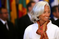 searching for the perfect scarf - Christine Lagarde