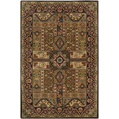 Art of Knot Weaver Hand Tufted Wool Area Rug, 5' x 8', Green