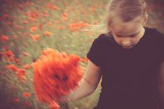 Running on the poppy field.