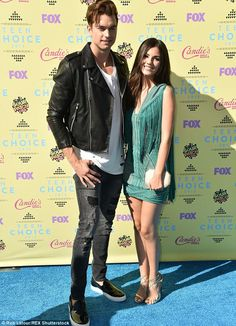 Cute couple: The Victorious actress cozied up to model boyfriend Pierson Fodé...