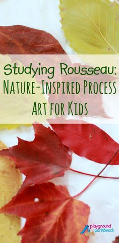 Studying Rousseau and The Jungle - Nature Inspired Process Art for Kids