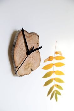 Driftwood Clock. Wooden Clock. Modern Wall Clock. Living by Railis