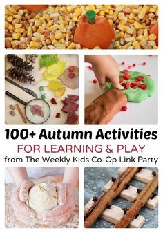 100+ Autumn Activities for Learning and Play at B-InspiredMama.com - Great Ideas for a Fall of Halloween Party, Too!