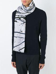 Kenzo spiral print scarf