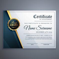 Award Certificate Design Template Award Certificate Design Template, The newbie sometimes acquire confused of preparing for great template. They frequently think that they have to stru. Certificate Layout, Certificate Border, Certificate Background, Certificate Design Template, Certificate Of Appreciation, Certificate Of Achievement, Award Certificates, Graduation Templates, Best Templates