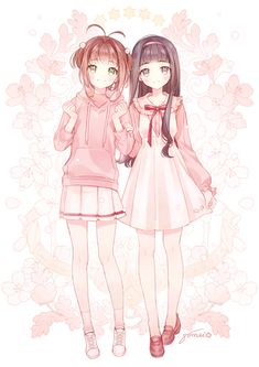 Anime, art, and pink image Anime Girl Cute, Beautiful Anime Girl, Anime Art Girl, Anime Girls, Cardcaptor Sakura, Sakura Card Captor, Anime Chibi, Chica Anime Manga, Thicc Anime