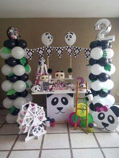 Fiesta de oso panda Cake, Desserts, Party, Pie Cake, Cakes, Deserts, Dessert, Postres, Cookies