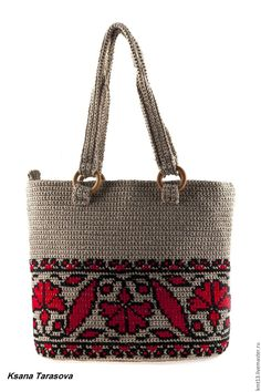 """self made. Summer bag """"Embroidery"""" - Bags and Purses Embroidery Bags, Embroidery Fashion, Machine Embroidery, Hobbies For Women, Tapestry Crochet, Crochet Purses, Summer Bags, Shoulder Purse, Purse Wallet"""
