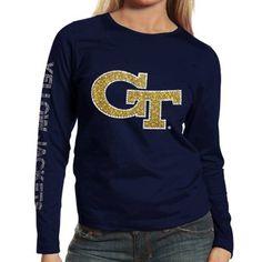 Georgia Tech Yellow Jackets Ladies Navy Blue Taylor Long Sleeve T-shirt #GaTech