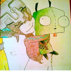 Art by my 13 yr old daughter. Midna and Gir from Zelda. Done in pencil crayon Zelda, Pencil, Girly, Daughter, Artist, Women's, Girly Girl, Artists, Daughters