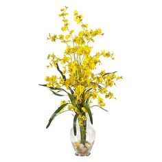 nearly natural Liquid Illusion Silk Dancing Lady Orchid Floral Arrangement, Multicolor