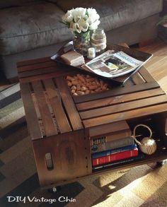 Vintage Wine Crate Coffee Table - DECOmyplace - Home decorating ideas, Interior styling, 居家佈置,收納,手作,家具,裝潢,木工,沙發,鄉村風,北歐風,舊屋改造,室內設計