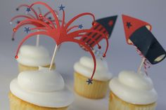 Cute cupcake toppers using QuicKutz dies and cardstock!