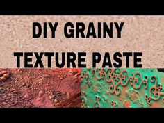 48. DIY Homemade Grainy Texture Paste for Mix Media | How to make Grainy Texture Paste |Kanak Jaipur - YouTube