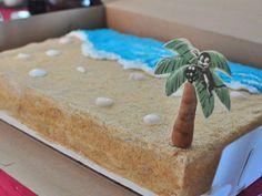 Beach Cake - how to make great cake sand