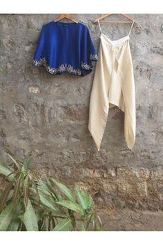 Buy Orange Chanderi Pleated Kurta at Best Price Online in India   Coutureyard.com