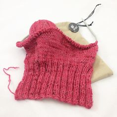 #PussyHatProject hat in the works. I love this pink heather yarn. Vacation #knitting is kind of awesome. I'll be wearing this to the Woman's March on Washington.