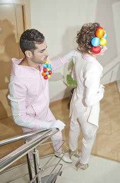 Colección SWEET SUGAR otoño/invierno 2012/13 modelos mono pantera rosa y chaquet femenino beige.