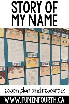 Story of my Name Writing Today I'm sharing one of my favourite tasks for building community in the classroom. Students are able to share an important aspect of . 5th Grade Classroom, School Classroom, In The Classroom, Future Classroom, Year 3 Classroom Ideas, Science Classroom Decorations, Classroom Games, Classroom Crafts, Writing Lessons