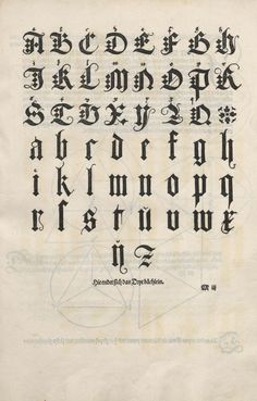 * Albrecht Dürer Alphabet (1471-1528) from Of the Just Shaping of Letters (1535) | Reusable Art