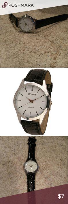 Watch 2016 Fashion Brand Quartz Dress Watch Womens Mens Bracelet Watch Ladies Casual Leather Analog Wrist Watches Clock relojes mujer Honhx Accessories Watches
