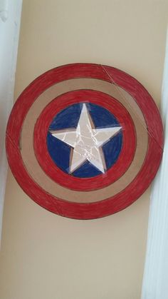 Captain America shield from cereal box & aluminum foil