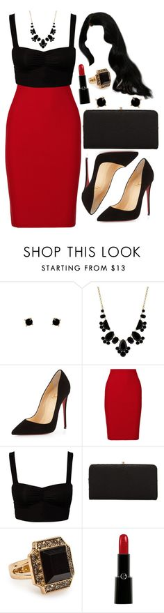"""""""Untitled #3313"""" by natalyasidunova ❤ liked on Polyvore featuring Humble Chic, Kate Spade, Christian Louboutin, Roland Mouret, Urban Expressions and Giorgio Armani"""