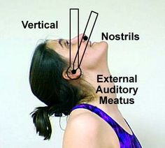 Cervical Spine Backward Bending (Extension)the mouth should be relaxed and slightly open.45*