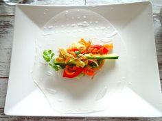 Thai Sommerrollen mit Erdnuss-Dip