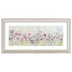 Buy Catherine Stephenson - Meadow Of Wild Flowers Embellished Framed Print, 110 x 55cm Online at johnlewis.com