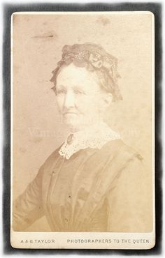 Carte de Visite CDV Photograph of an Old Woman A. & by Tiddalik