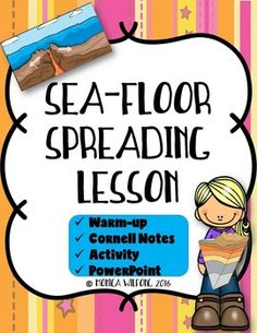Sea Floor Spreading Lesson (Presentation, Notes, And Activity)  Earth  Science