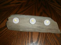 Natural Driftwood Tealight Candle Holder W/ by CrystalsSeaglass, $15.00