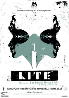 Lite gig poster by Or8 Design