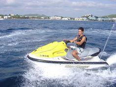 Jet ski in Ibiza´s sea.