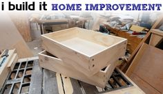 How To Make Drawers The Easy Way - Kitchen Cabinet Build - YouTube