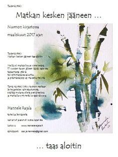 Taidenäyttely Nurmon kirjastossa maaliskuun 2017 ajan. Osoite Nurmontie 20. Art Exhibition at Nurmo Library Seinäjoki from 2. March to 31. March.