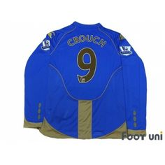 Photo2: Portsmouth 2008-2009 Home L/S Shirt #9 Crouch BARCLAYS PREMIER LEAGUE Patch/Badge w/tags 110th anniversary Portsmouth Home L/S Shirt - Football Shirts,Soccer Jerseys,Vintage Classic Retro - Online Store From Footuni Japan