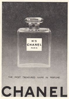 Vintage ad for Chanel