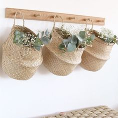 Home Design Decor, House Design, Entryway Decor, Bedroom Decor, English Country Decor, Home Decor Baskets, Hanging Baskets, Sustainable Living, Colorful Decor