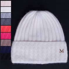 ==> [Free Shipping] Buy Best 2017 M brand Women Winter Beanies hat thick wool knitted hat Twist Pattern Ladies Beanies Winter Gorros for Female sonw caps Online with LOWEST Price | 32761277093