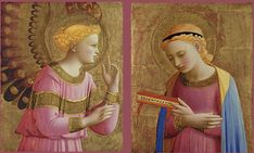 Annunciazione  c.1450/55 (Guido di Pietro) Fra Angelico Detroit Institute of Arts Мichigan USA Fra Angelico, Princess Zelda, Disney Princess, Detroit, Disney Characters, Fictional Characters, Aurora Sleeping Beauty, Angels, Wallpapers