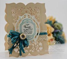 Card Making Idea from www.amazingpapergrace.com using JustRite Papercraft – Black Eyed Susan Vintage Labels, JustRite Vintage Labels Five, Spellbinders Tapestry, Spellbinders Grand Labels Twenty Three