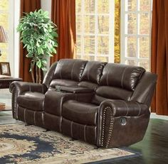 Making the right decision with reclining loveseat with center console - Designalls Family Furniture, Furniture Sale, Leather Reclining Loveseat, Cool Couches, Elegant Dining, Wood Dust, Center Console, Traditional Looks, Furniture Arrangement