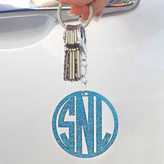 Monogram Acrylic Keychains available at Note Worthy