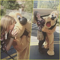 Speaking of puppy kisses Pluto saw me walking by and begged me to come give him one!!!! I love being friends with Disney characters it makes visiting the parks on my day off so many h better  #disney #disneyland #californiaadventure #pluto #grizzlypeak #puppylove by melbelle24601